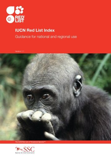 IUCN Red List Index - Guidance for National and Regional Use