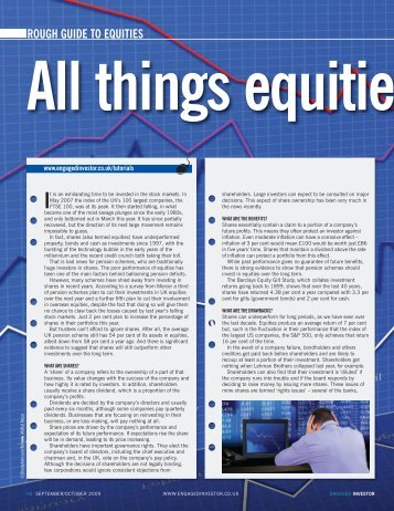 Rough guide to equities - Engaged Investor