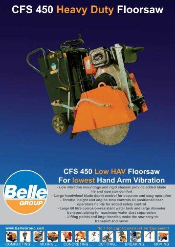 CFS 450 Heavy Duty Floorsaw - Belle Group