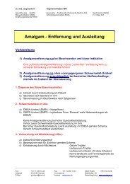 Amalgam - Entfernung und Ausleitung - Ever - Dr. med. Jürg Eichhorn