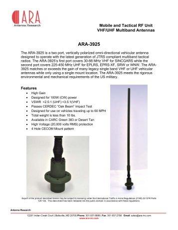 VHF UHF Antenna - ARA 3925 - ViaLite