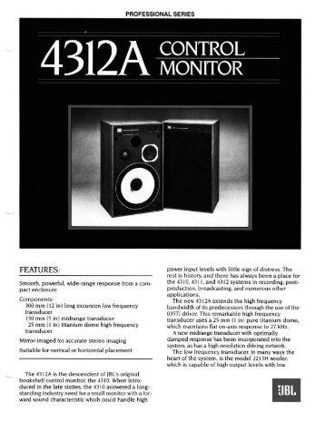 4312A - JBL Professional