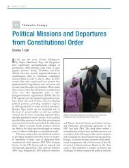 Political Missions and Departures from Constitutional Order