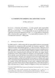 LA SCRIMINANTE SPORTIVA NEL GIOCO DEL CALCIO di ... - Rdes.it
