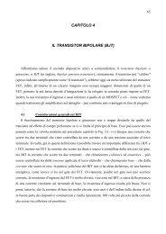 CAPITOLO 4 IL TRANSISTOR BIPOLARE (BJT) - dieet