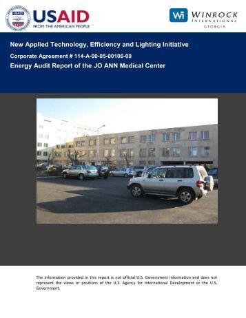 Energy Audit Report of the JO ANN Medical Center - Tkibuli Tea