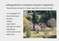 Argentinien , Cordoba - Anwesen mit 3,5ha
