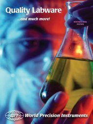 Download Glassware Catalog - World Precision Instruments