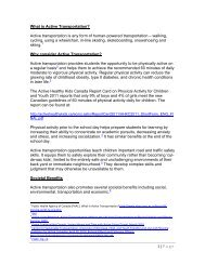 1   Page What is Active Transportation? Active ... - School District 51
