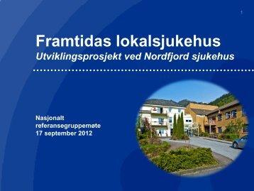 2012-09-17_Presentasjon_Referansegruppa - Helse Vest