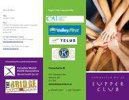 SUPPER CLUB - Canadian Mental Health Association