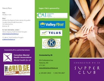 SUPPER CLUB - Canadian Mental Health Association