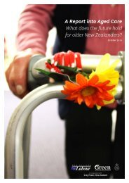 A Report into Aged Care What does the future hold ... - Labour Party