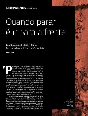 Quando parar é ir para a frente - Revista Pesquisa FAPESP