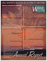 OWRB 2007 Annual Report - Water Resources Board - State of ...
