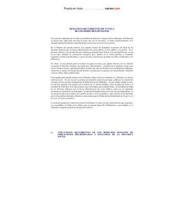 Capítulo II: demandas recurrentes - Especial de nacion.com sobre el ...