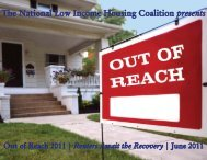 Full Report (.pdf, 3 MB) - National Low Income Housing Coalition