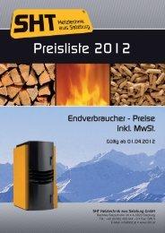 Preisliste 2012.indd - Garvens