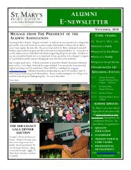 Alumni E-Newsletter - St. Mary's High School