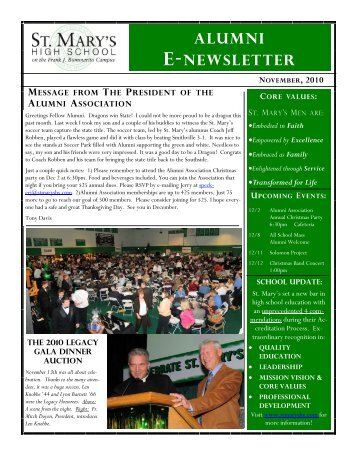 Alumni E-Newsletter - St. Mary's High School