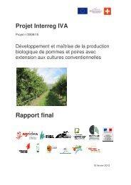 Rapport final et résultats globaux du projet - Agridea