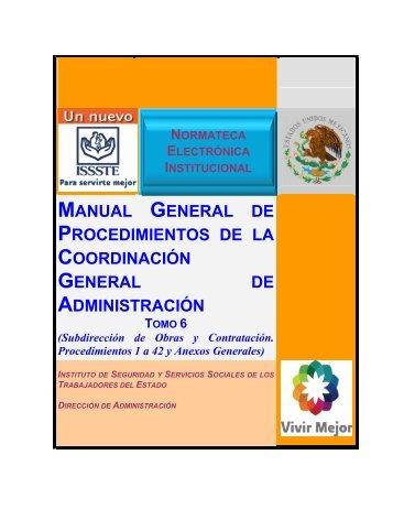 MANUAL GENERAL DE PROCEDIMIENTOS DE LA ...