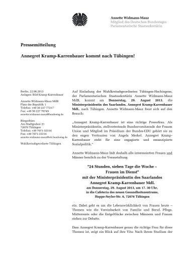 2013-08-29 PM Kramp-Karrenbauer.pdf - Widmann-Mauz, Annette