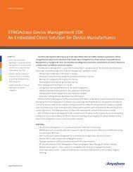 XTNDAccess Device Management SDK An Embedded Client ...