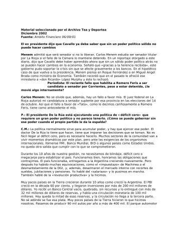 Fuente: Ambito Financiero 06/09/01 - Winisisonline.com.ar