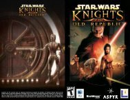 KOTOR Manual - Aspyr
