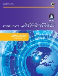 FY 2011 Annual Report - Regional Computer Forensics Laboratory