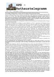 Nummer 18 - Oktober 2005 - SPD-Fraktion im Erlanger Stadtrat