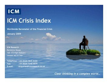 Crisis Index for The Guardian - ICM Research