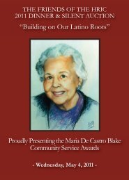 2011 Awards Dinner & Silent Auction - Newark Public Library