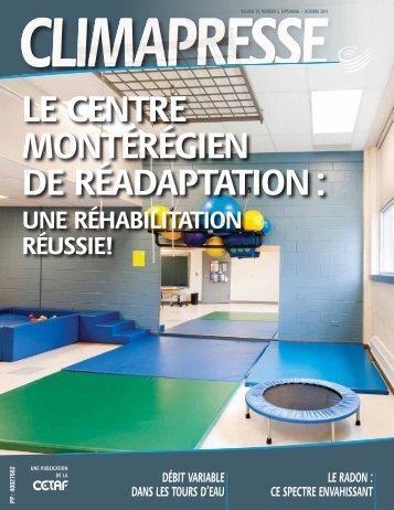 Le centre montérégien de réadaptation : une réhabilitation ... - CETAF