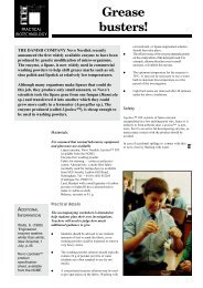 Grease busters! - National Centre for Biotechnology Education ...