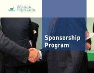 Sponsorship Program - Partners in Project Green