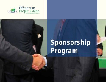 Sponsorship Program - Partners in Project Green