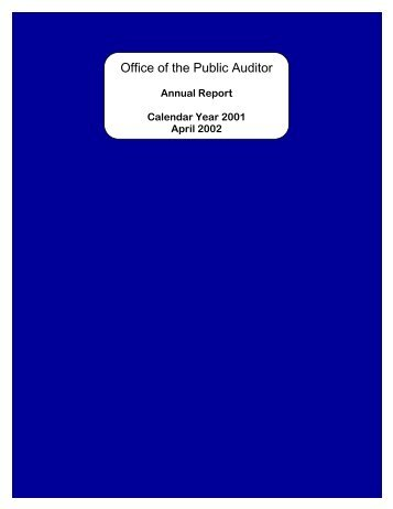 2001 - The Office of Public Accountability