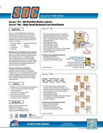 Specifications - SDC Security Door Controls