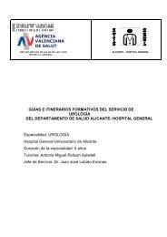 agència valenciana de salut guías e itinerarios formativos del ...