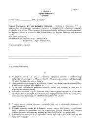 umowa na remont balkonów dla PCK