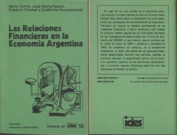 Ediciones del IDES Nº 15, Las relaciones financieras en la Argentina.
