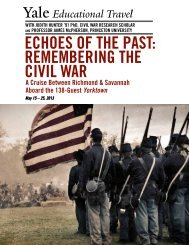 EchoEs of thE Past: REmEmbERing thE civil WaR - Yale University