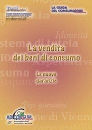 La vendita dei beni di consumo. Le nuove garanzie - Provincia di ...