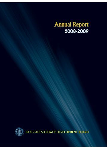 Annual Report for 2008-2009 - BPDB