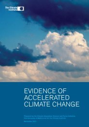 tci evidence of accelerated climate change - The Climate Institute