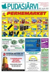 nro 24 2010 -lehti - Pudasjärvi-lehti ja VKK-Media Oy