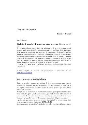 Le sentenze Radu e Melloni: due pronunce ... - Archiviopenale.it