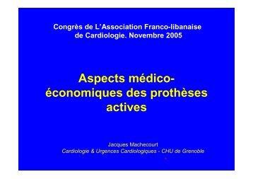 Aspect médico-économique des endoprothèses actives